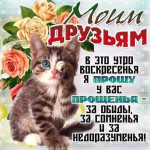 Друзьям открытки прощеное воскресенье с надписями